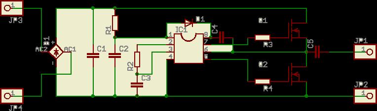 C1: Электролит 630uFx400V