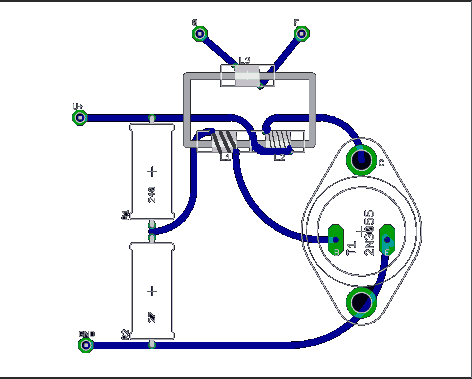 схема на одном транзисторе.