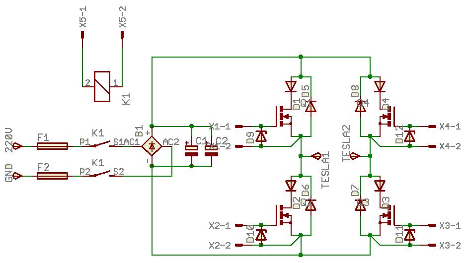 ...полевые транзисторы на напряжение =400В и необходимый нам ток. например IRF840 D1...